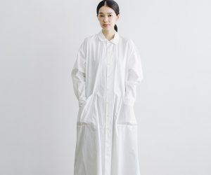YAECA WRITE ワークシャツドレス ホワイト