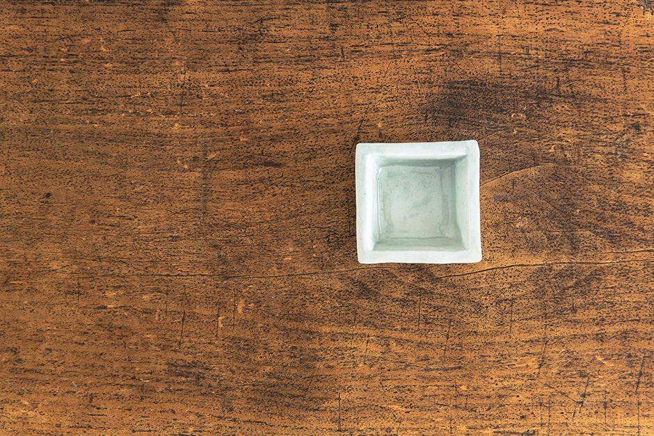 古白磁 角豆鉢