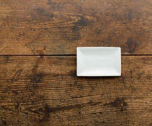古白磁 長角小皿