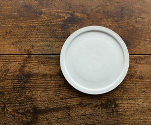 古白磁 7寸平皿