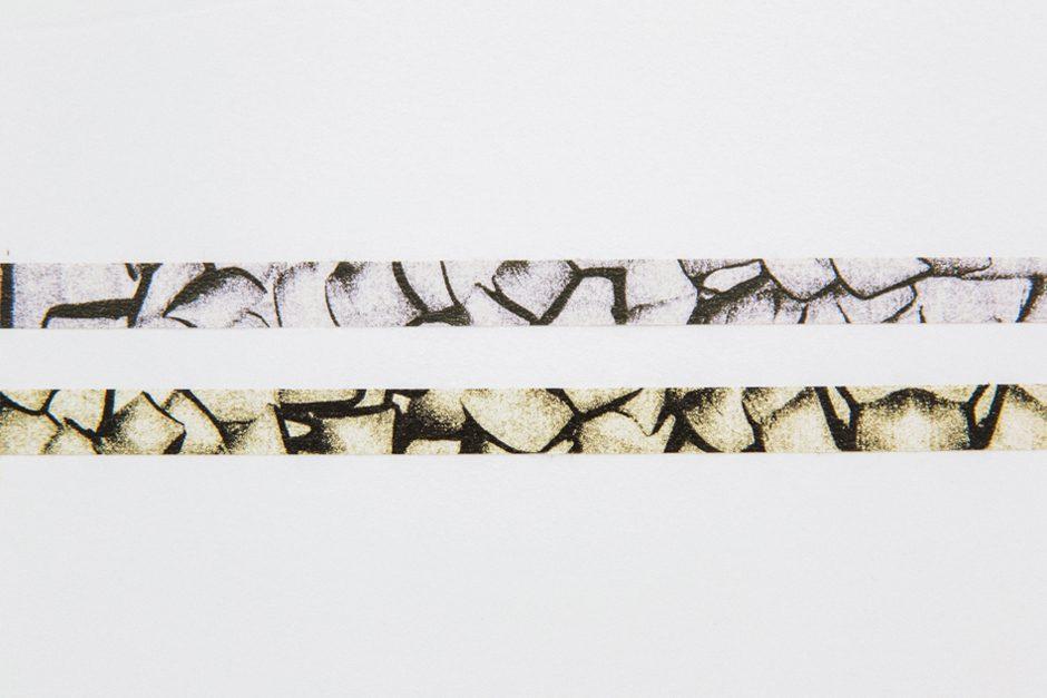 倉敷意匠×ツヴィリンゲ マスキングテープ ひっかき模様 スモークバイオレット