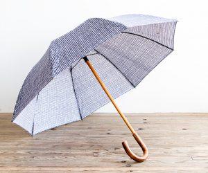 ボンボンストア ドローイングチェック 長傘(栗)