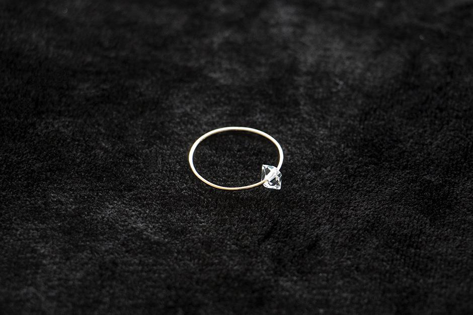 accessories mau K10+ハーキマー シンプルリング #11
