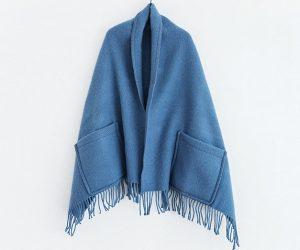 Lapuan Kankurit ポケットつきショール ブルー