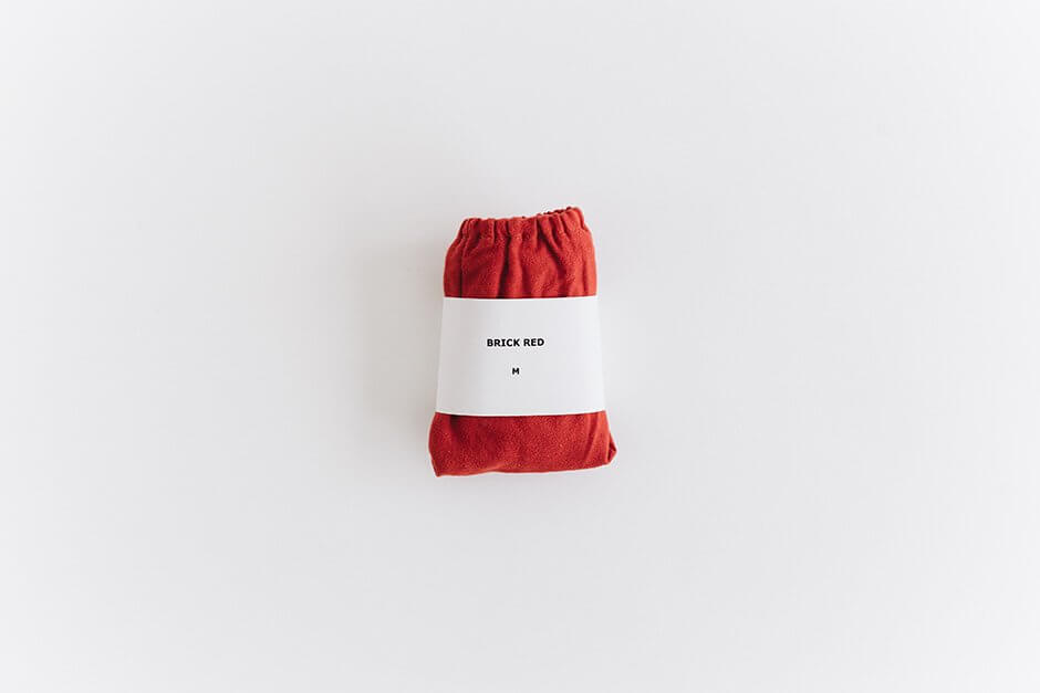 TESHIKI パンツ WARM COTTON BRICK RED