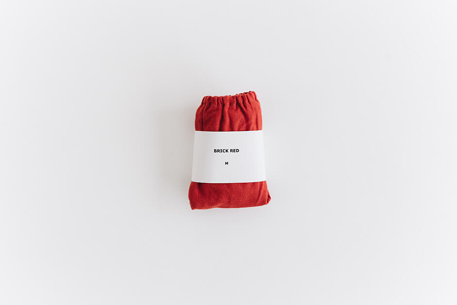 TESHIKI パンツ WARM COTTON BRICK RED