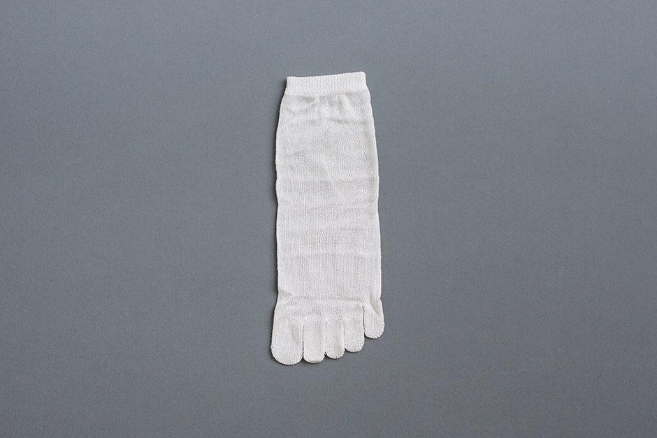 KARMAN LINE PLUTO 冷えとり靴下 1足目(シルク)ホワイト