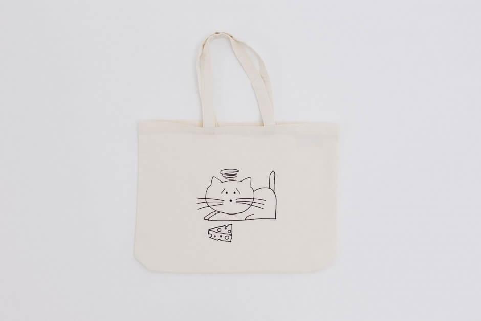 YAECA プリントバッグ CAT/MOUSE