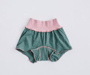 JUBAN DO ONI レディースボクサーパンツ ピンクxグリーン