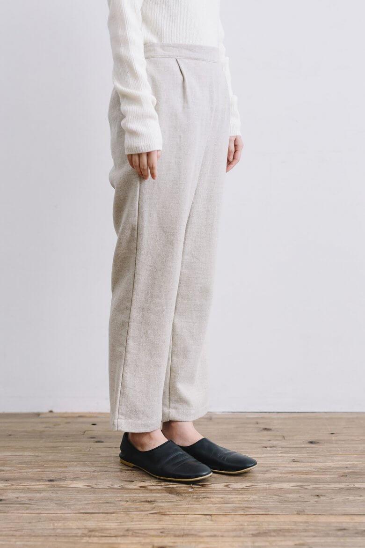 fog linen work フロリアーヌ パンツ オフホワイト