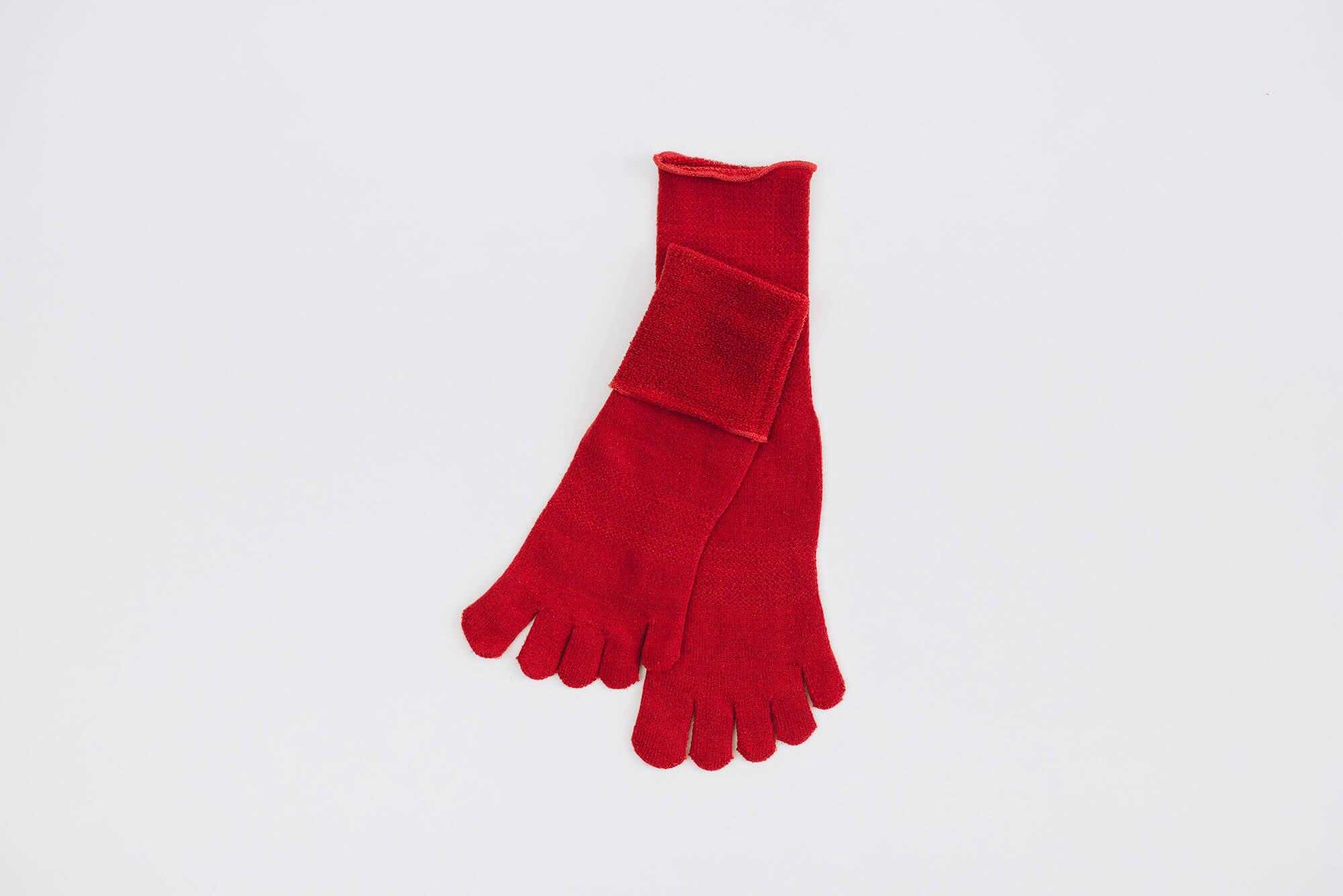 Glück und Gute 五本指「足の肌着」絹と綿