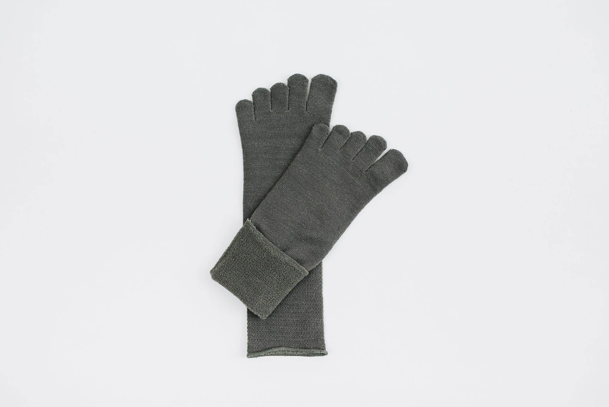 Glück und Gute 五本指「足の肌着」絹とウール