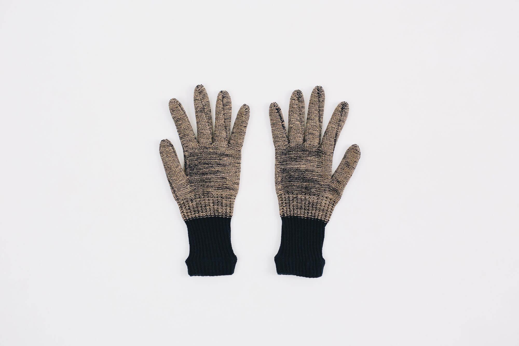 Glück und Gute オーガニックコットンとウールの手袋 For Women