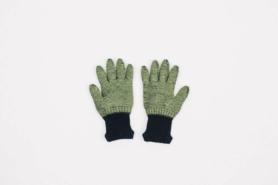 Glück und Gute オーガニックコットンとウールの手袋 For Kids