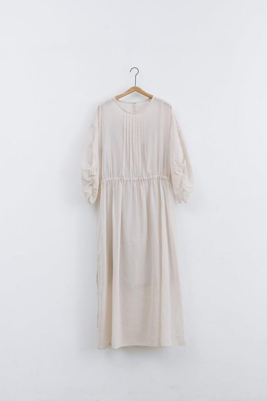 UNIVERSAL TISSU コットン オーガンジー ドレス ペールピンク