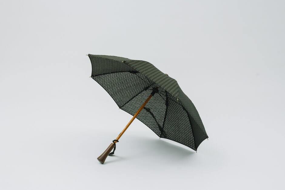 Bon Bon Store ドット刺繍 日傘 ブラック
