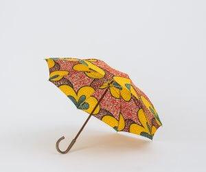 Bon Bon Store アフリカンバティック 長傘 レッド×イエロー