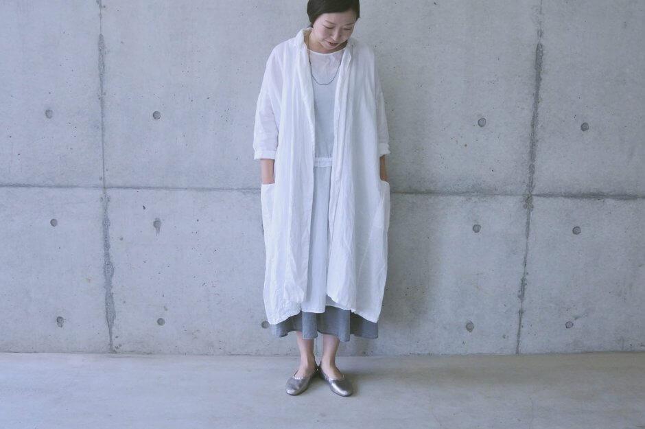 TESHIKI ドレープコート ホワイト