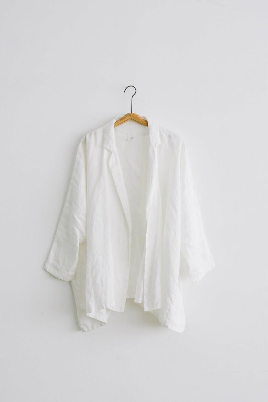 TESHIKI ドレープジャケット ホワイト