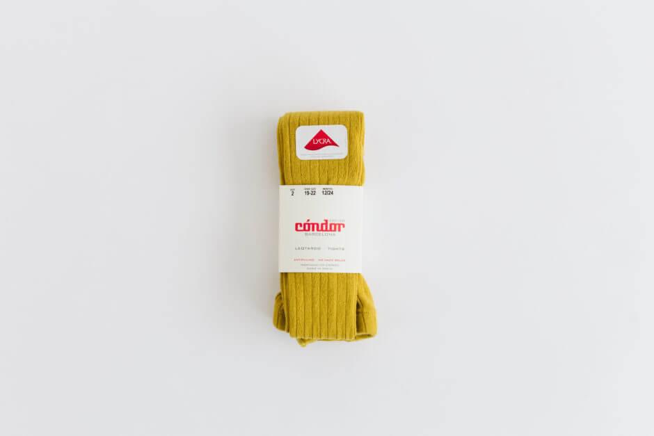 Condor リブタイツ マスタード 645