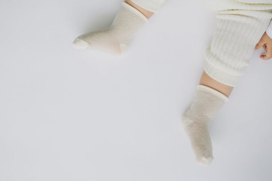 ガーゼなベビー靴下