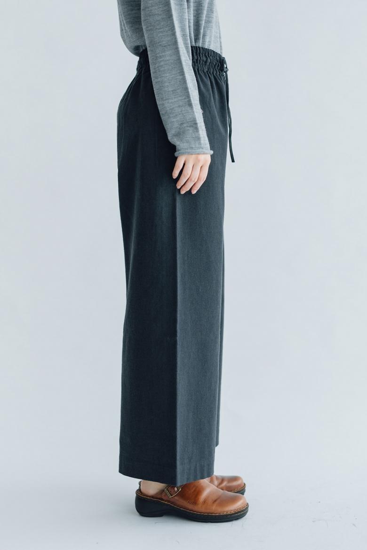 F/style 亀田縞のワイドパンツ(薄地)通常丈