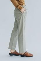 F/style 亀田縞の細身パンツ(薄地)