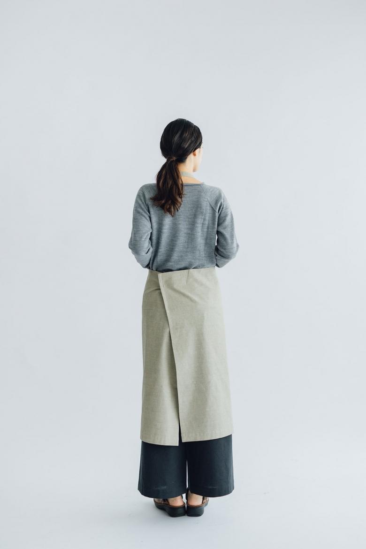 F/style 亀田縞のエプロン