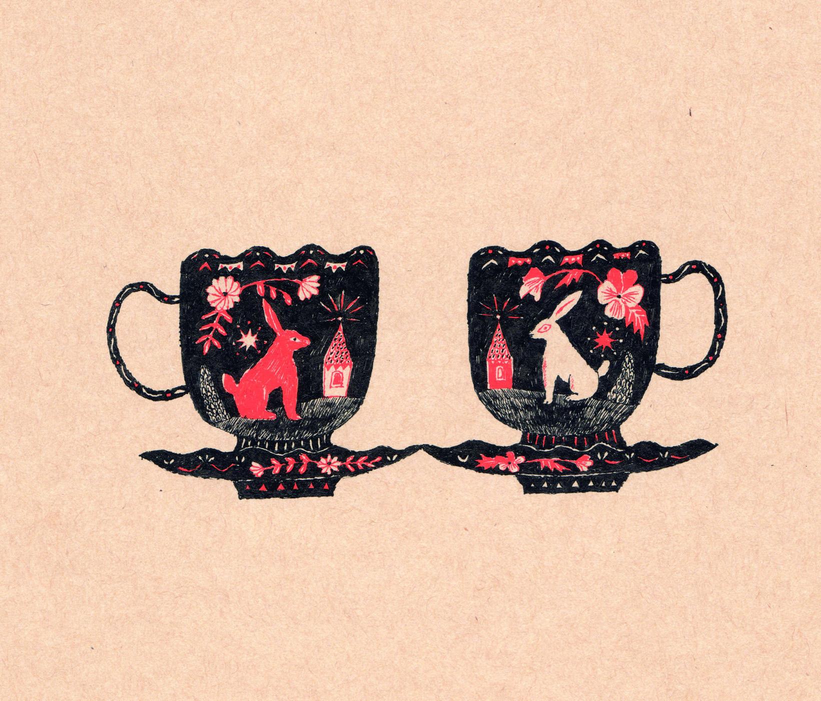 Sanae Sugimoto 「ティーカップのうさぎたち」