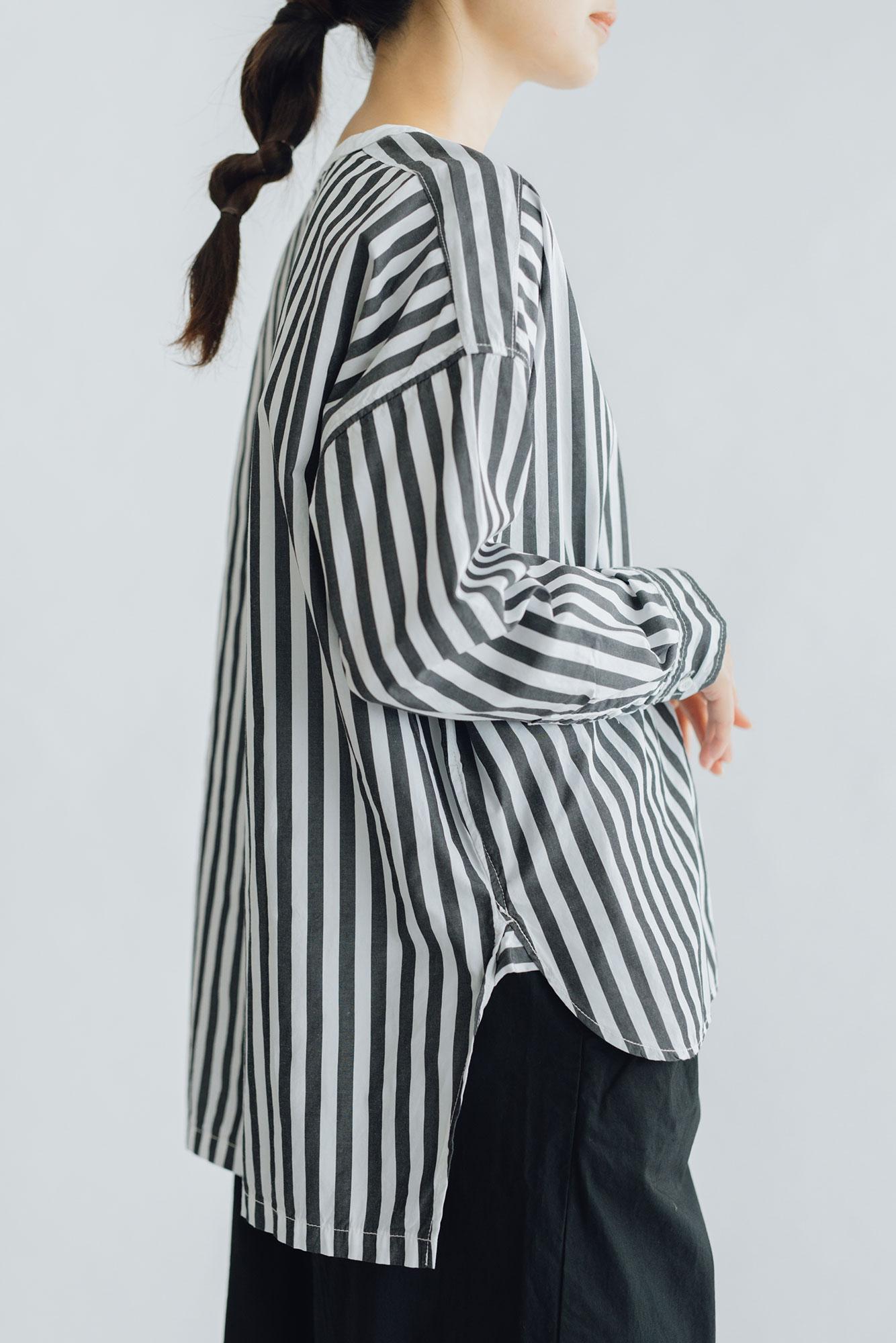 UNIVERSAL TISSU バーバーストライプ ワーキングシャツ