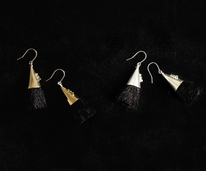 accessories mau つつっぽピアス ブラック