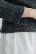 PUENTE 手紡ぎタートルネックセーター ダークグレー
