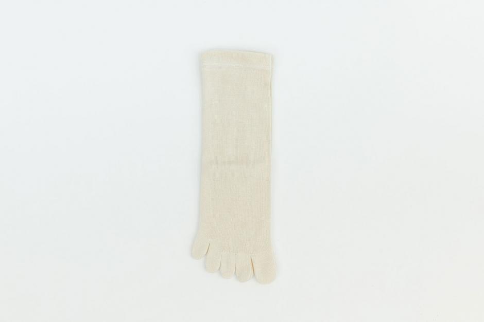 うさぎの会 絹上質5本指靴下(口ゴムなし)