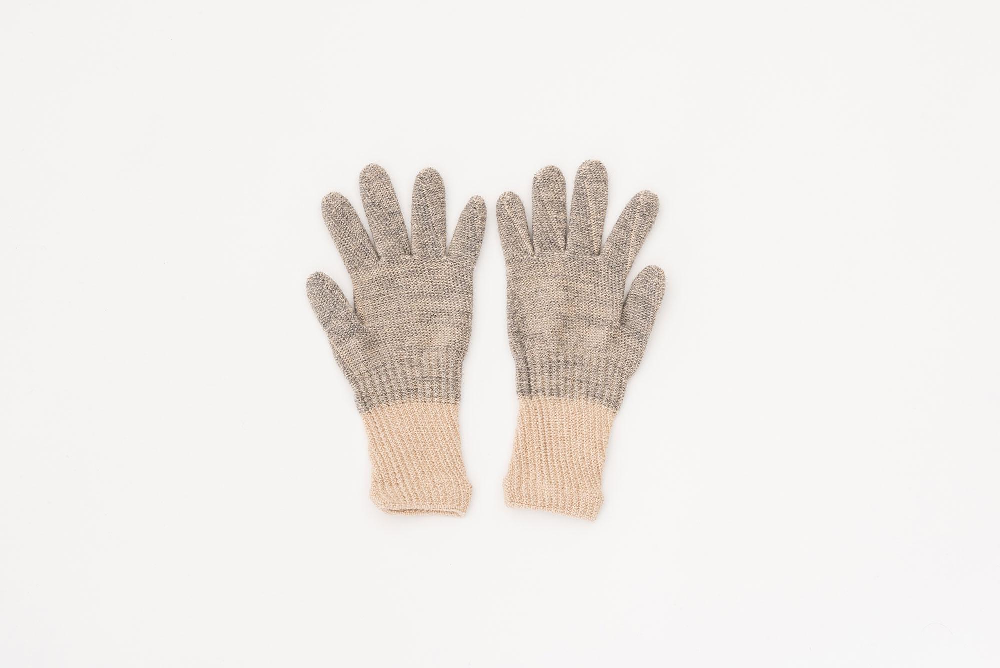 Glück und Gute オーガニックコットンとウールの手袋 For Women 指短め