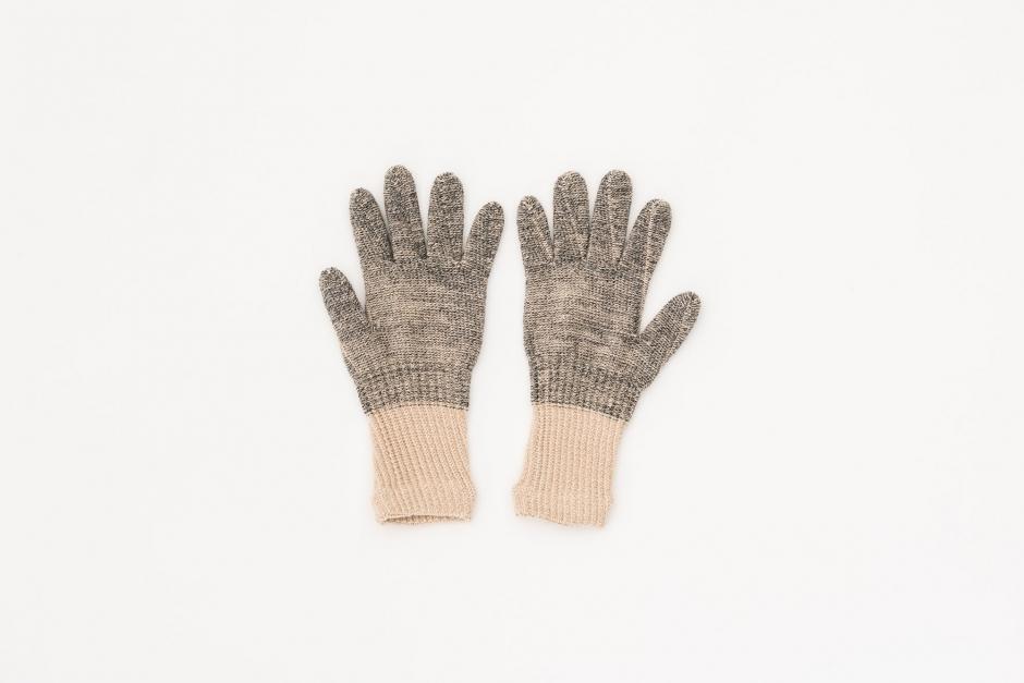 Gluck und Gute オーガニックコットンとウールの手袋 For Women 指短め