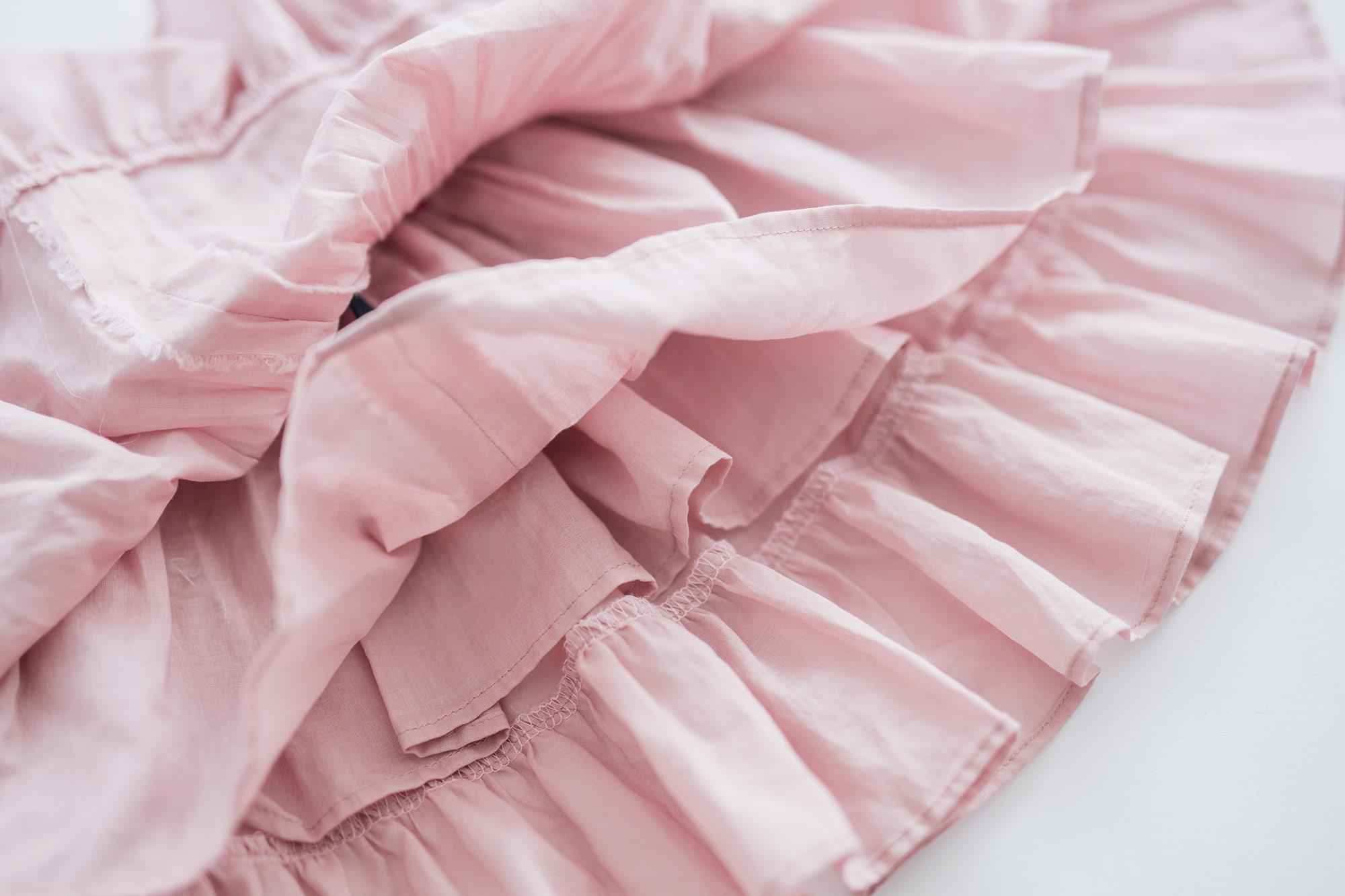 トントンちくちく スモッキングドレス&ブルマー パープル