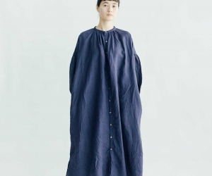UNIVERSAL TISSU ギャザーシャツドレス