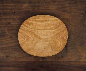 工房イサド クルミオーバル皿(小)
