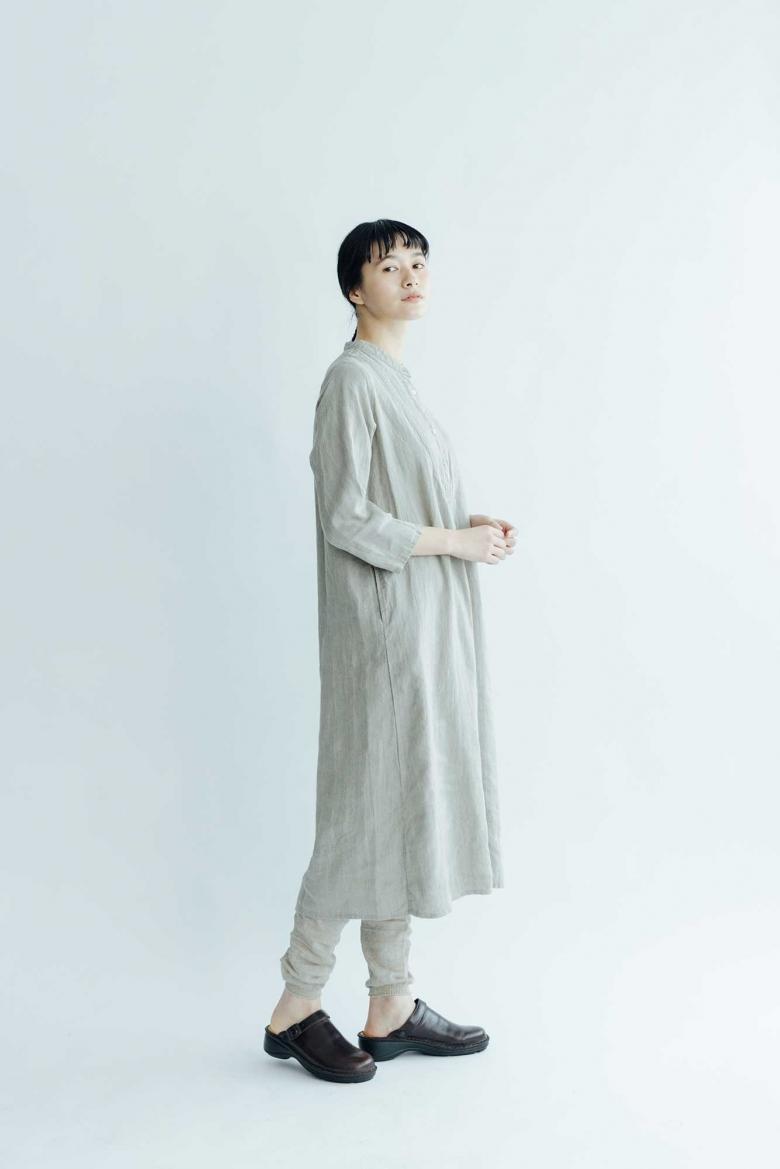 fog linen work マイア ワンピース ナチュラル