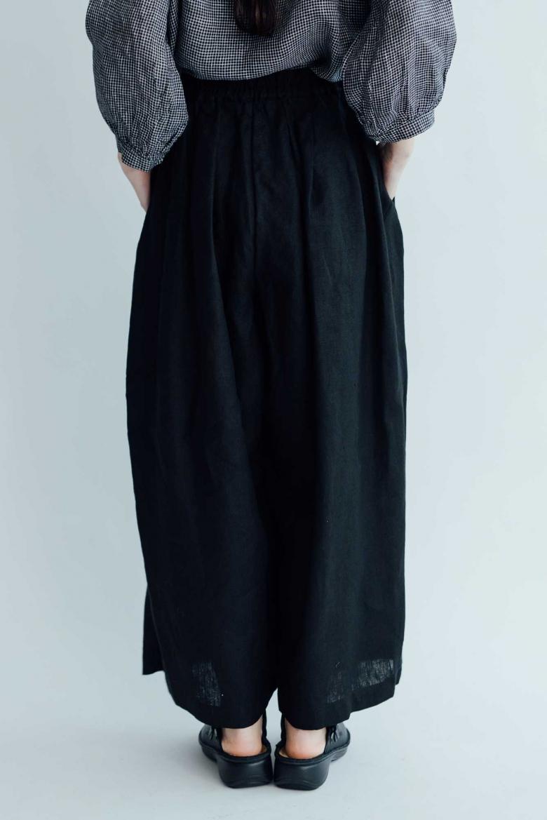 fog linen work ナンシーワイドパンツ ブラック