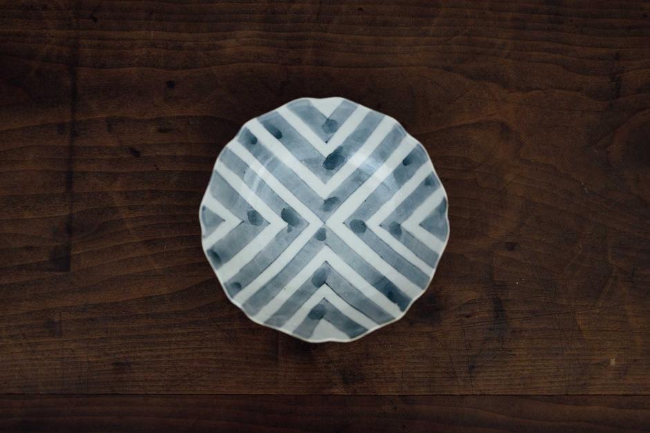 安齋新・厚子 白磁染付なます皿