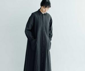 YAECA WRITE ワークシャツドレス チャコール