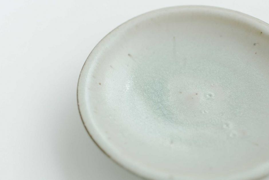 広川絵麻 6寸リム皿 白