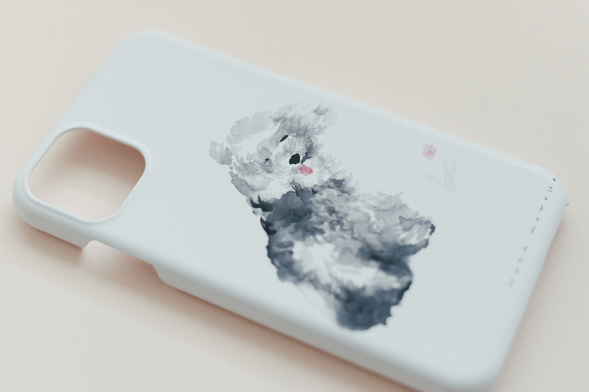 【受注生産】くらもとこ iPhoneケース 風に吹かれる犬