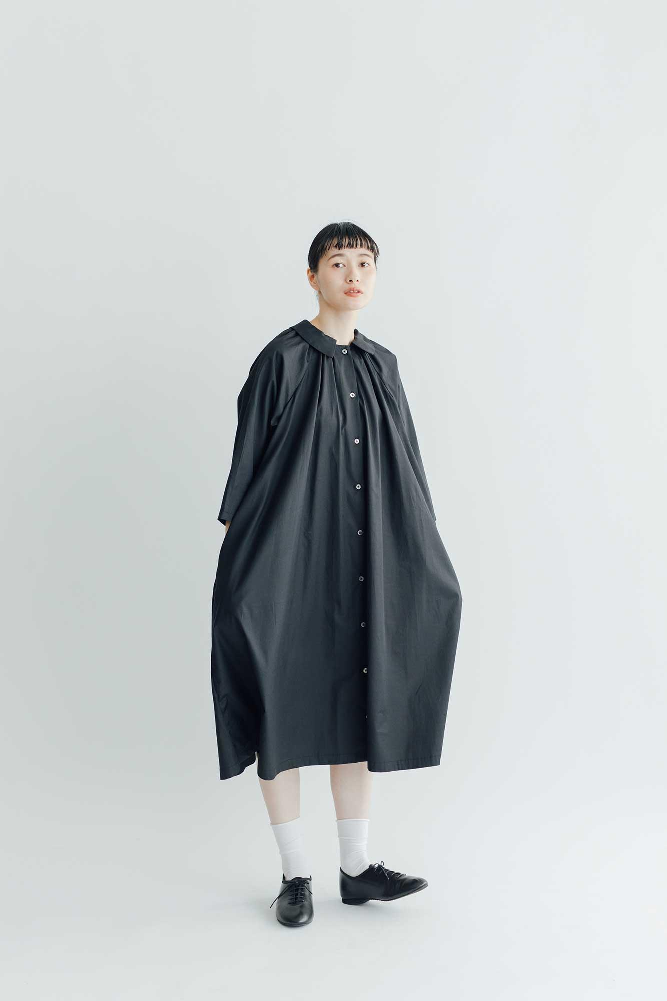 Atelier d'antan Aimee コットン ワンピース ブラック