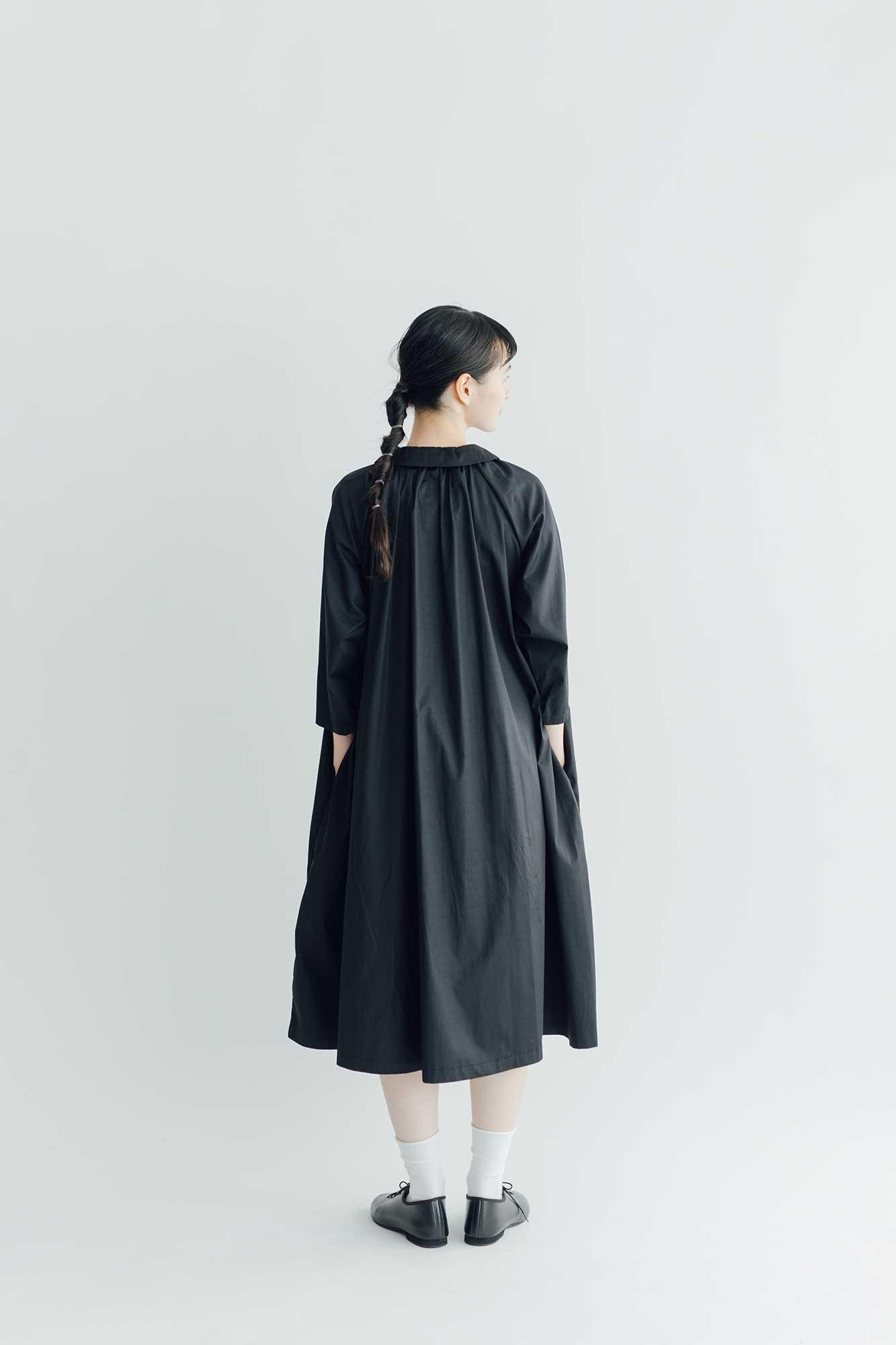 Atelier d'antan Aimee コットン ワンピース  (SPRING)  ブラック