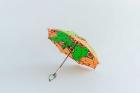 BonBonStore アフリカンバティック長傘(日傘) 自転車-オレンジ