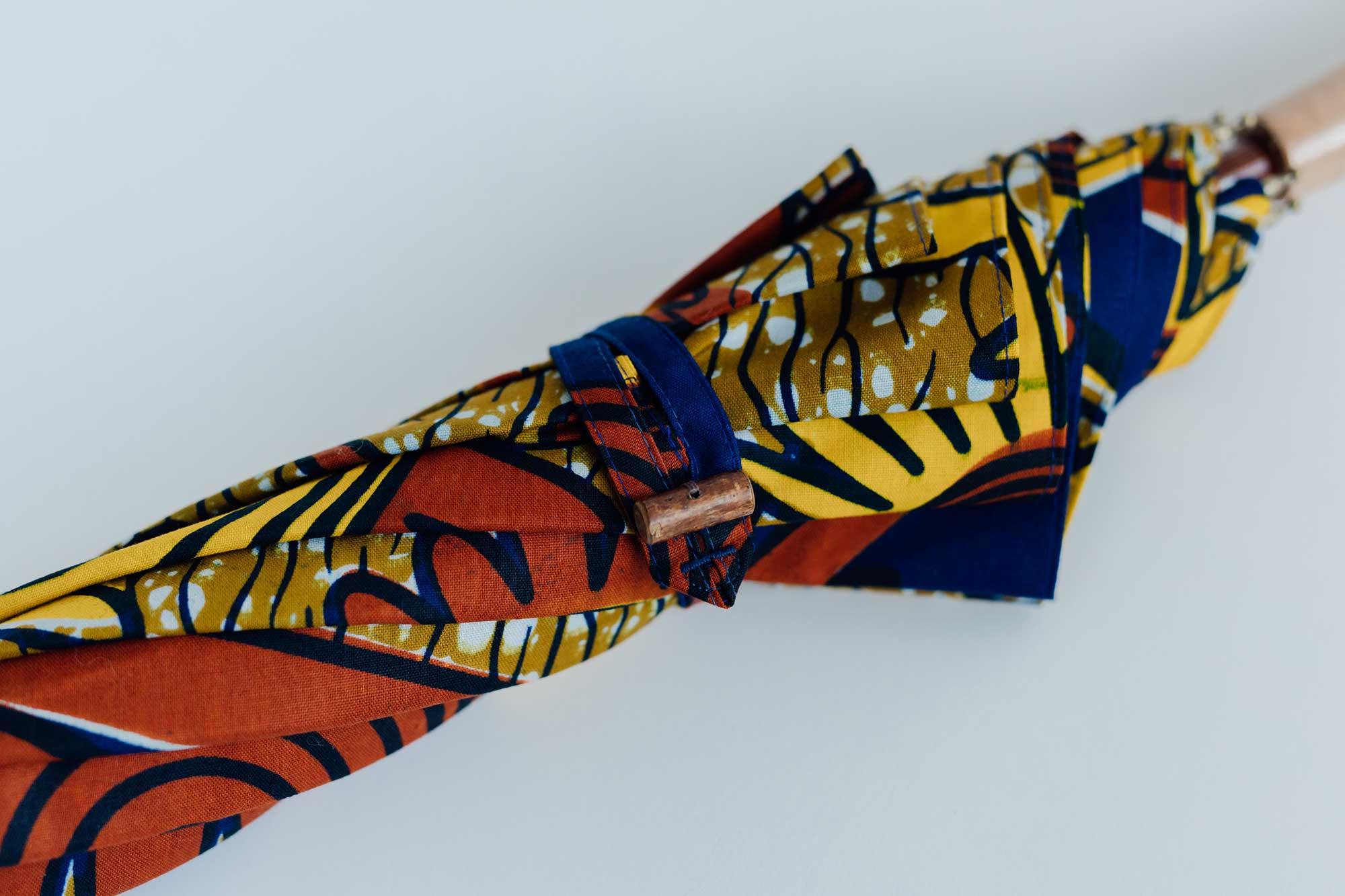 BonBonStore アフリカンバティック長傘(日傘) ベージュ
