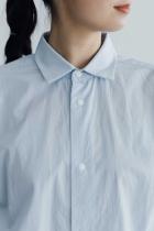 YAECA コンフォートシャツ リラックス サックス