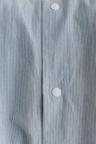 YAECA コンフォートシャツ リラックス ブルーストライプ